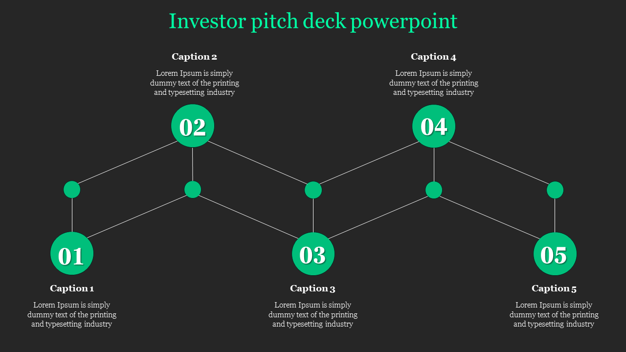 Outline of investor pitch deck powerpoint