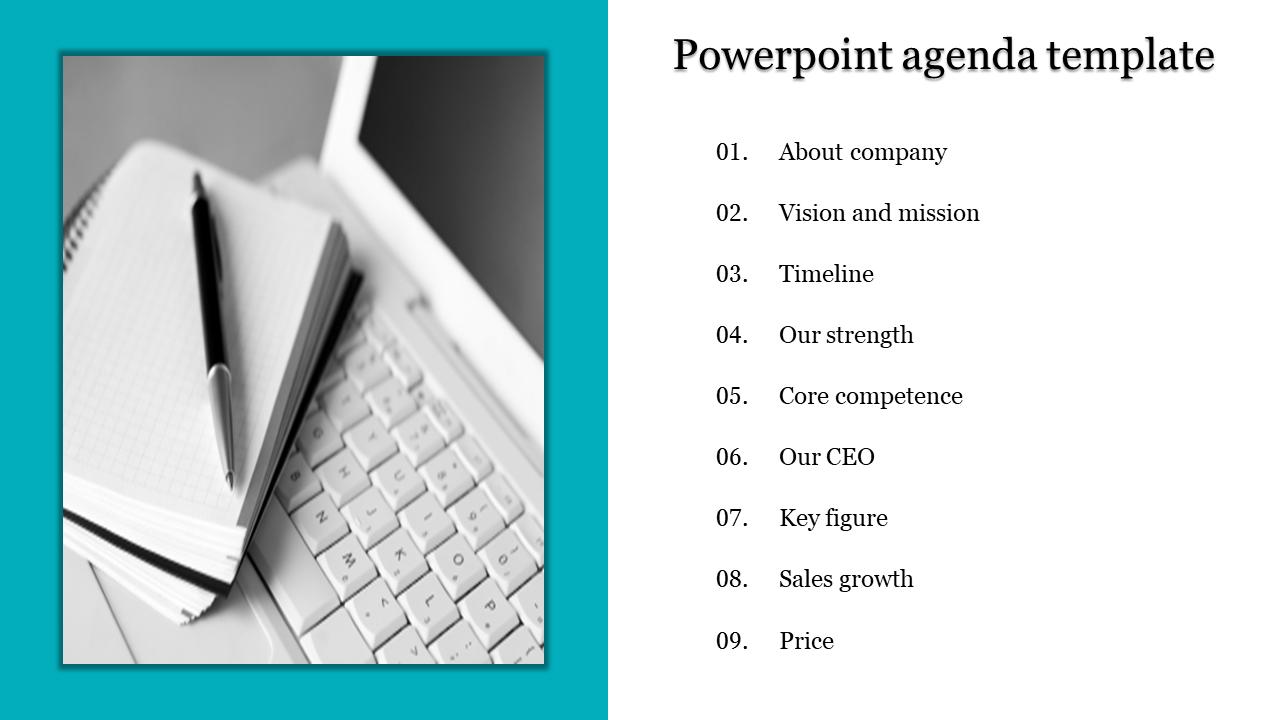 Portfolio Powerpoint Agenda Template