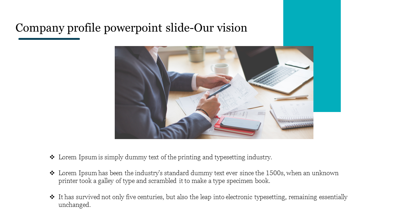 Our Vision Company Profile Powerpoint Slide