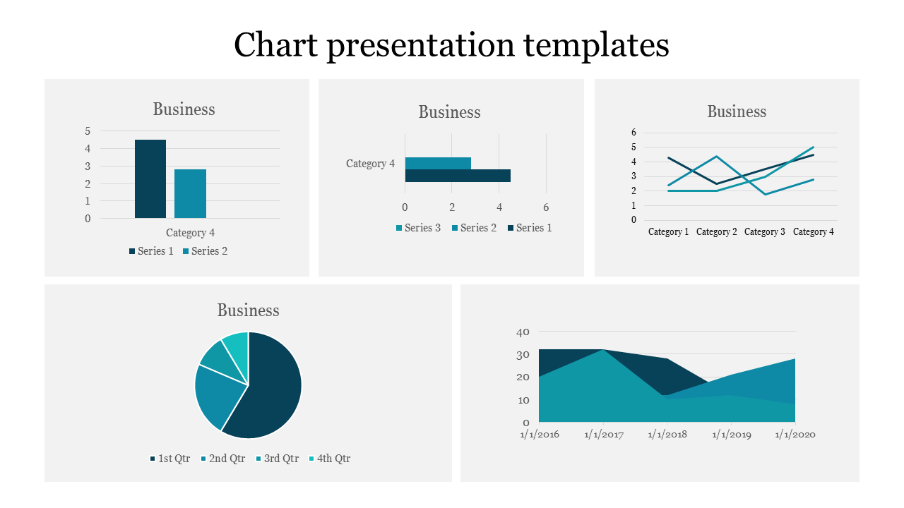 Business chart presentation templates