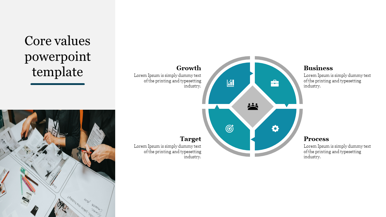Business Core Values Powerpoint Template Slideegg