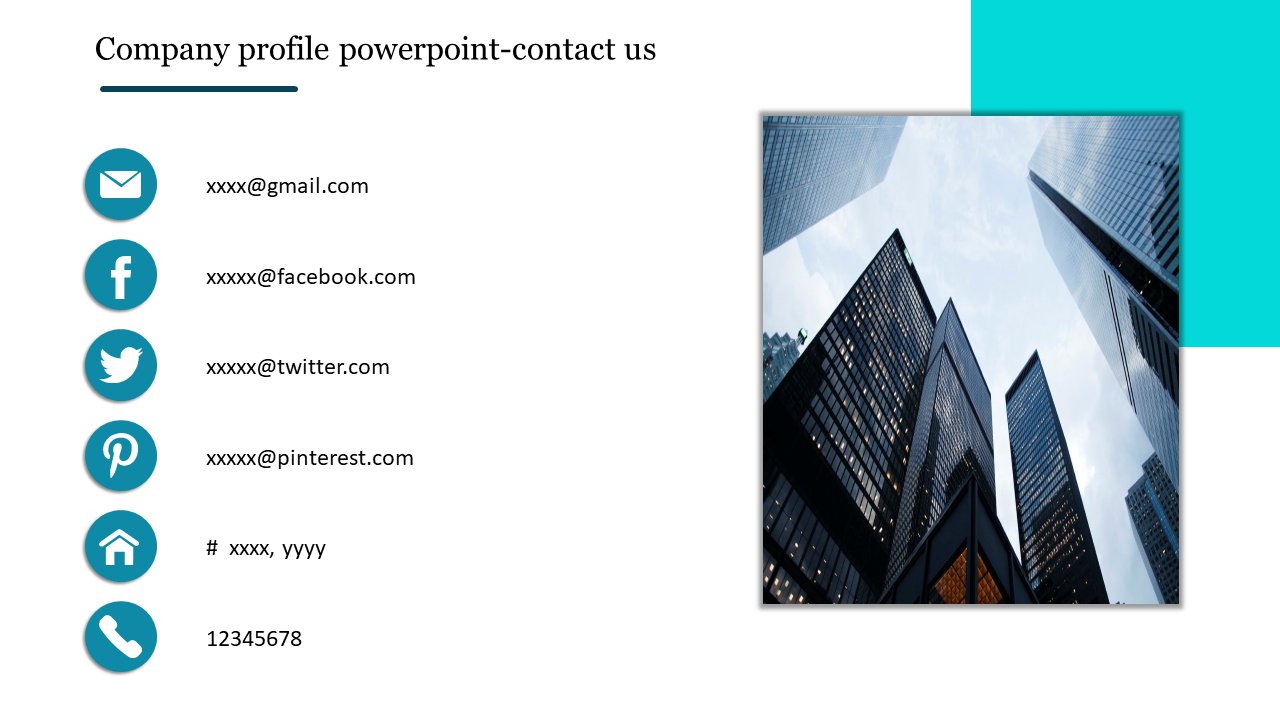 Company profile powerpoint-contact us