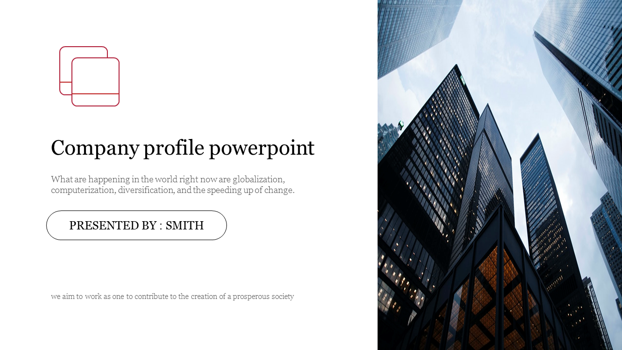 Company profile powerpoint with Title design