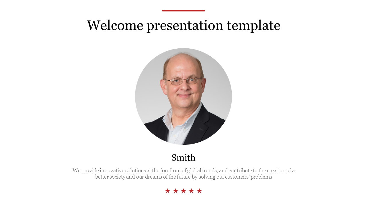 welcome presentation template for business