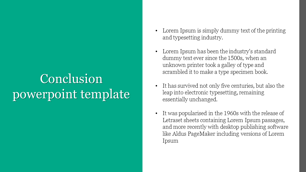 Conclusion Powerpoint Template For Company