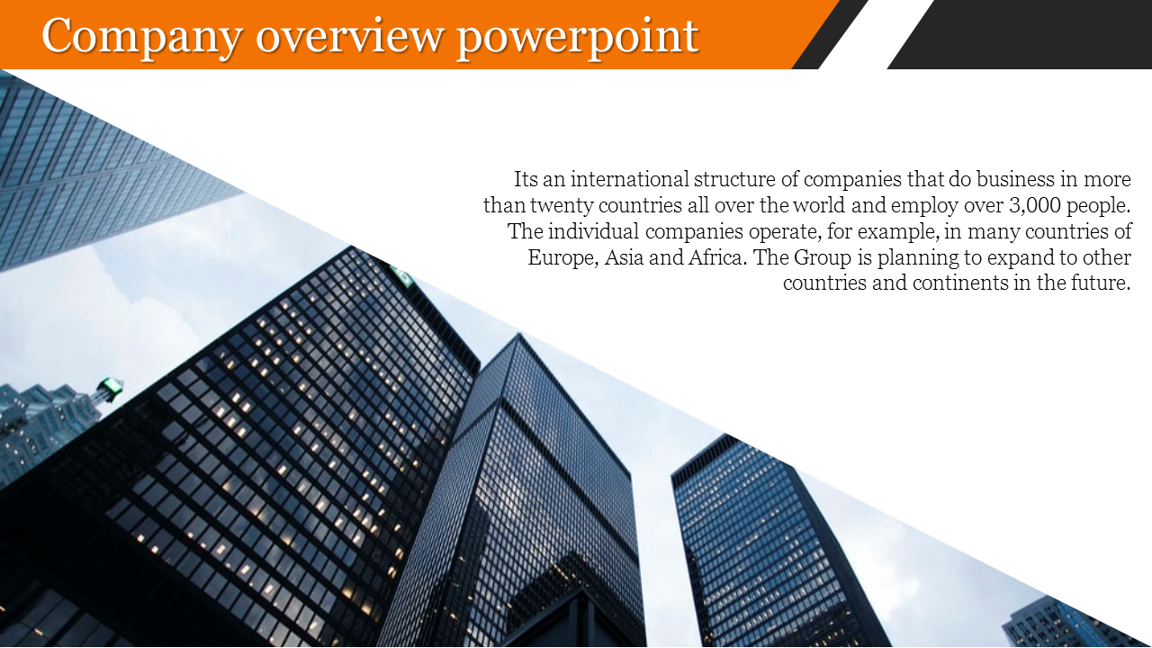 Innovative company overview powerpoint