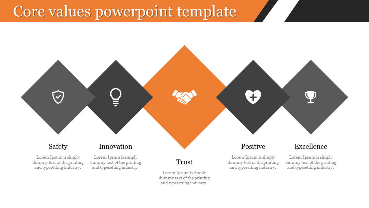 Company core values powerpoint template