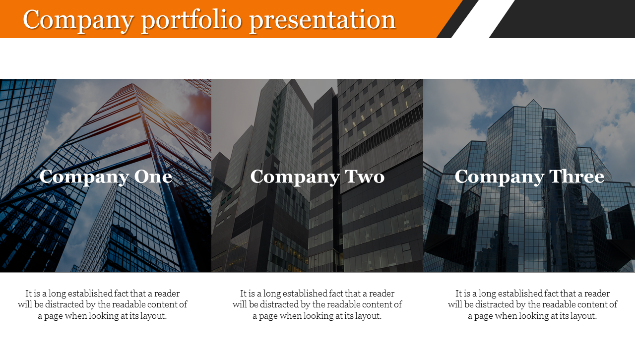 Branch of company portfolio presentation