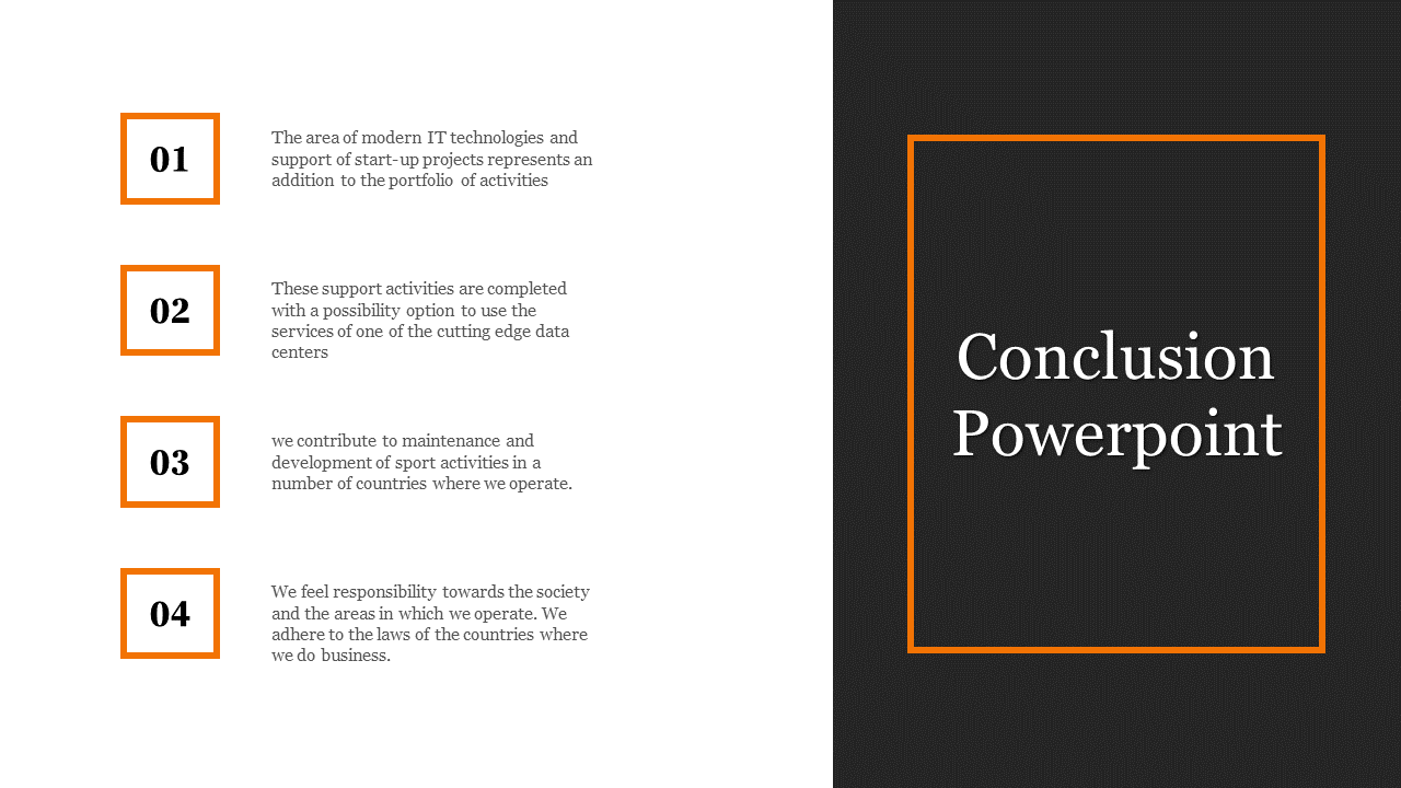 Conclusion Powerpoint for company presentation