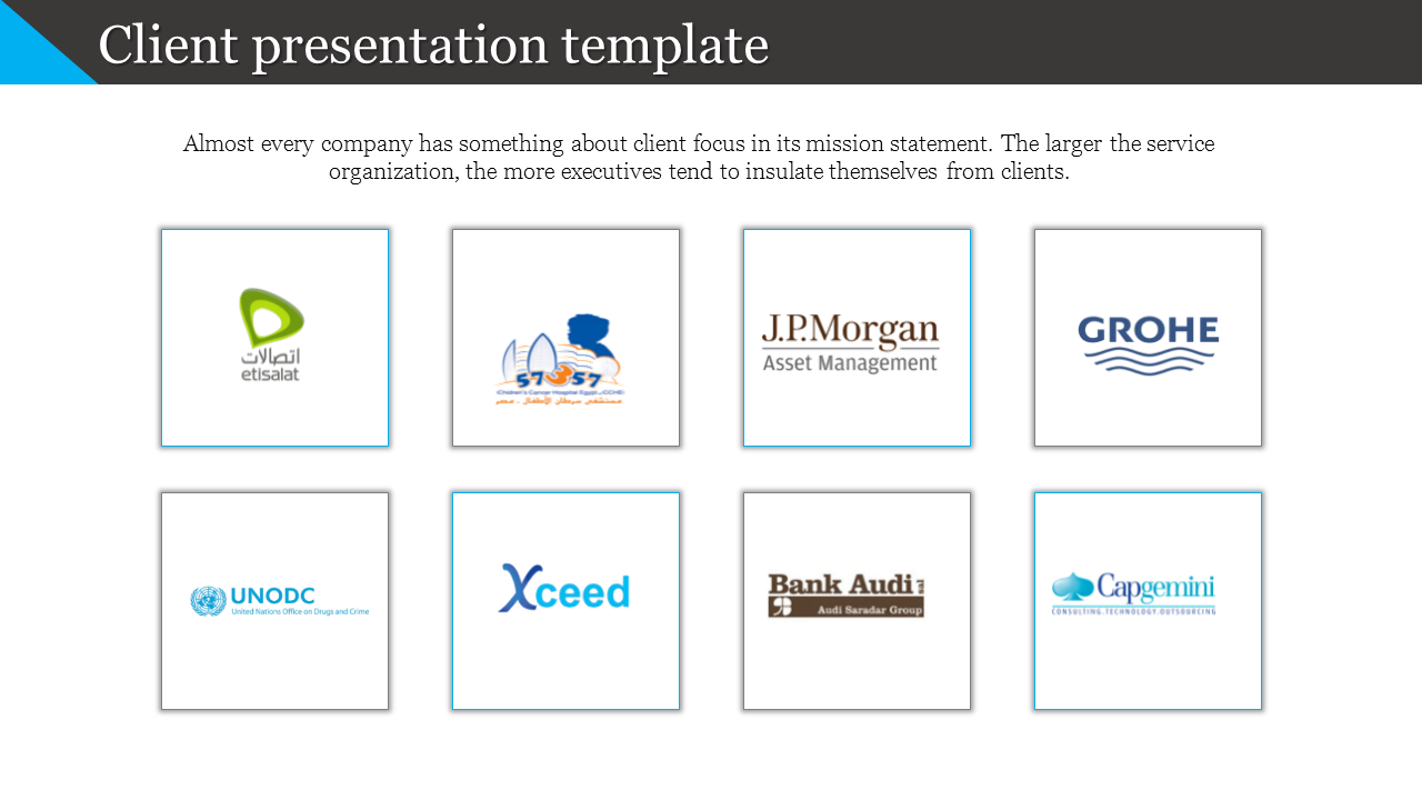 Client Presentation Template With Company Logos