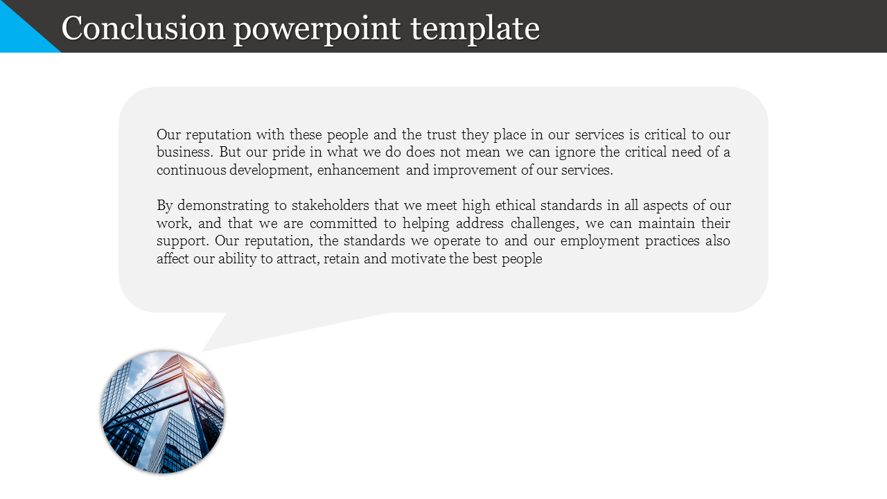 Conclusion Powerpoint Template Callout Design