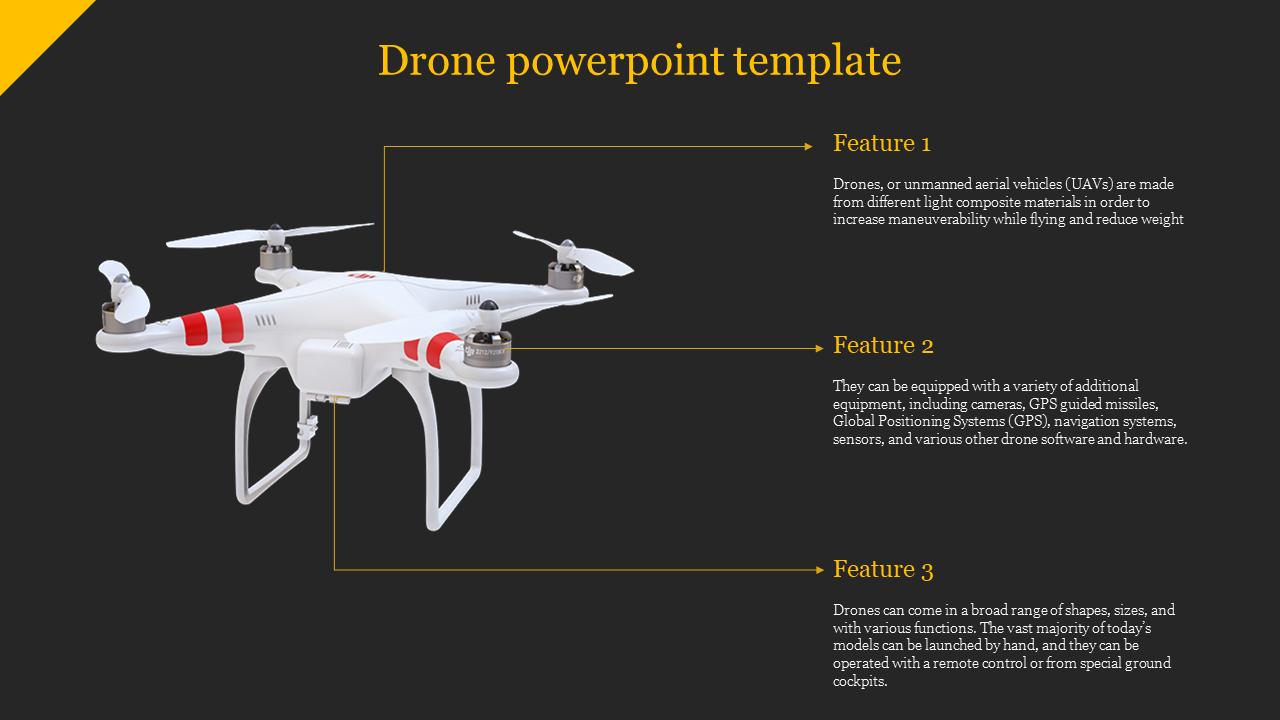 A Sixteen Noded Drone Powerpoint Templates Slideegg
