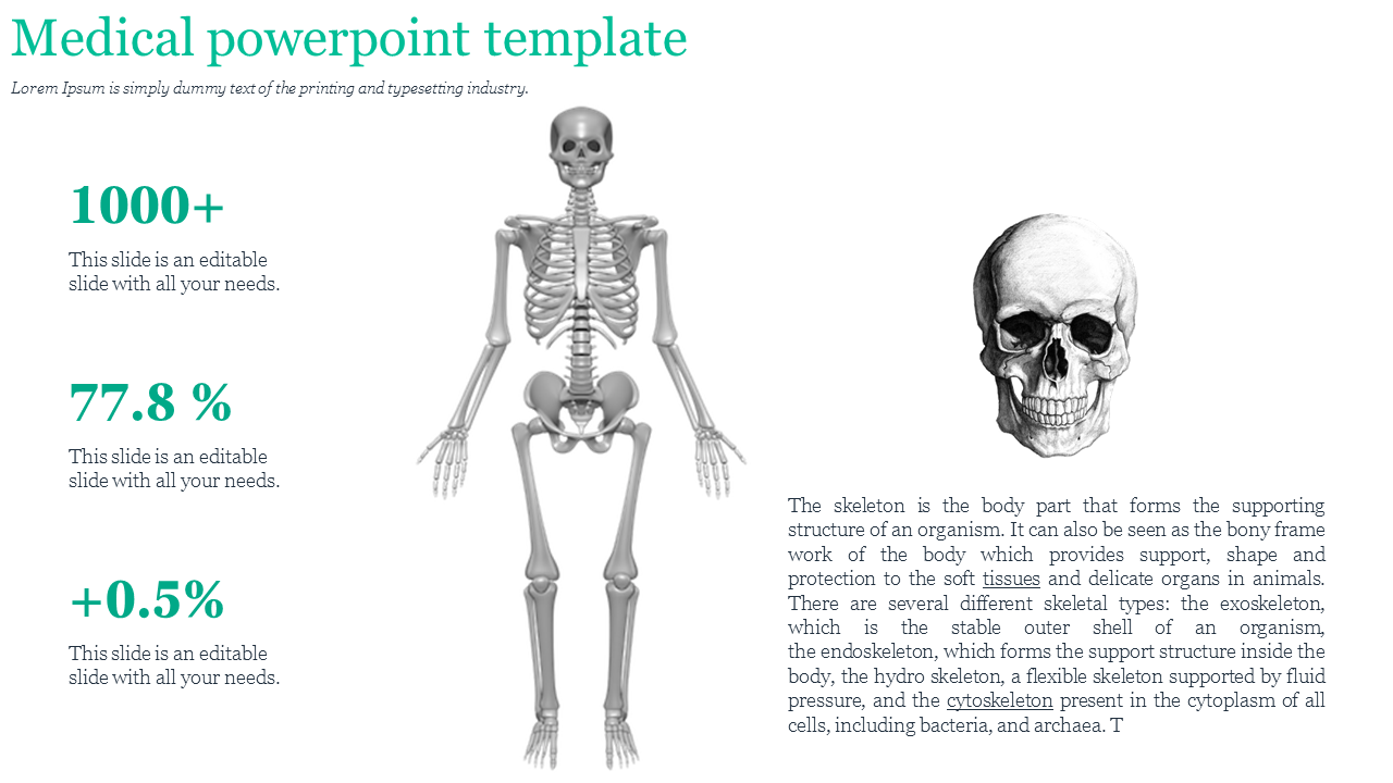 A Three Noded Medical Powerpoint Template