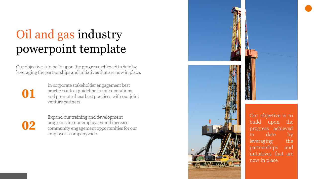Oil And Gas Industry Powerpoint Template Models Slideegg
