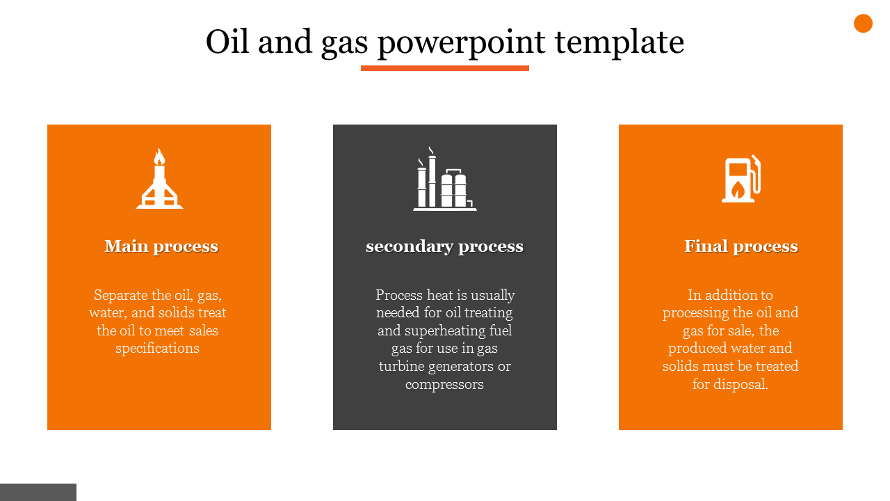 A three noded oil and gas powerpoint template