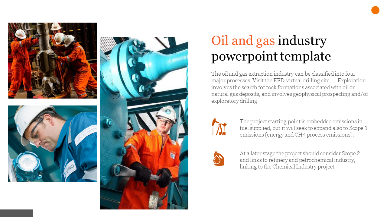 A two noded oil and gas industry powerpoint template