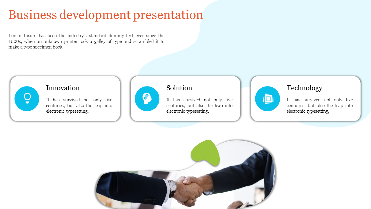 A Three Noded Business Development Presentation