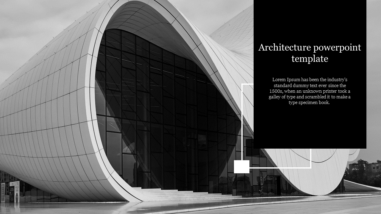 A One Noded Architecture Powerpoint Template Slideegg
