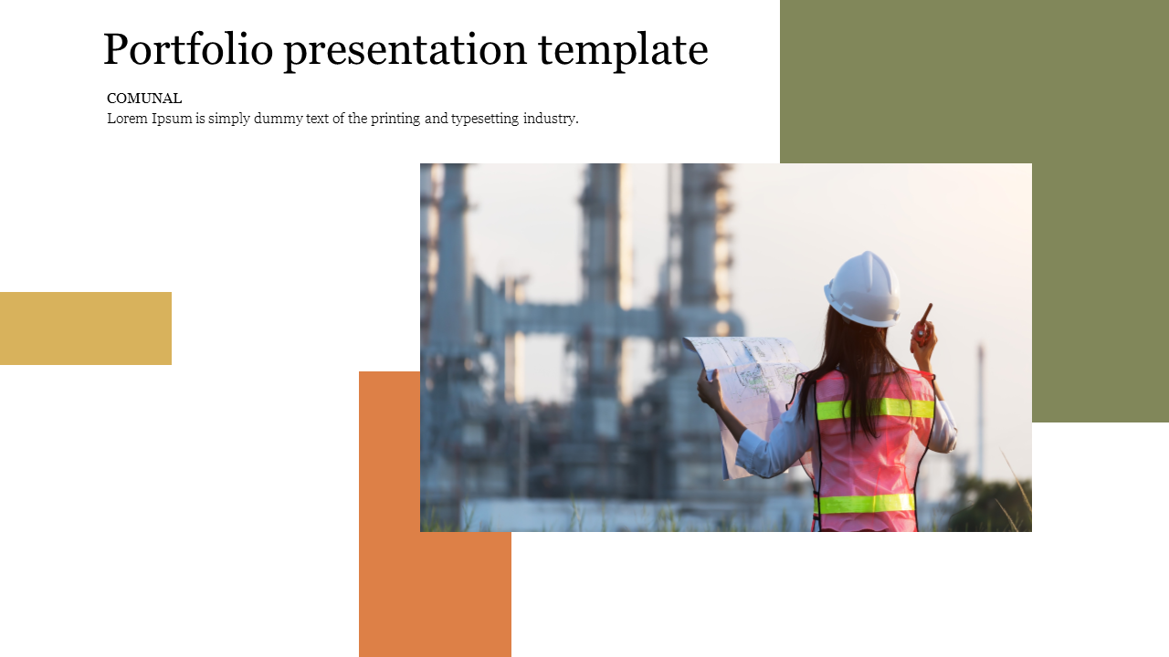 Portfolio presentation template for introduction slide