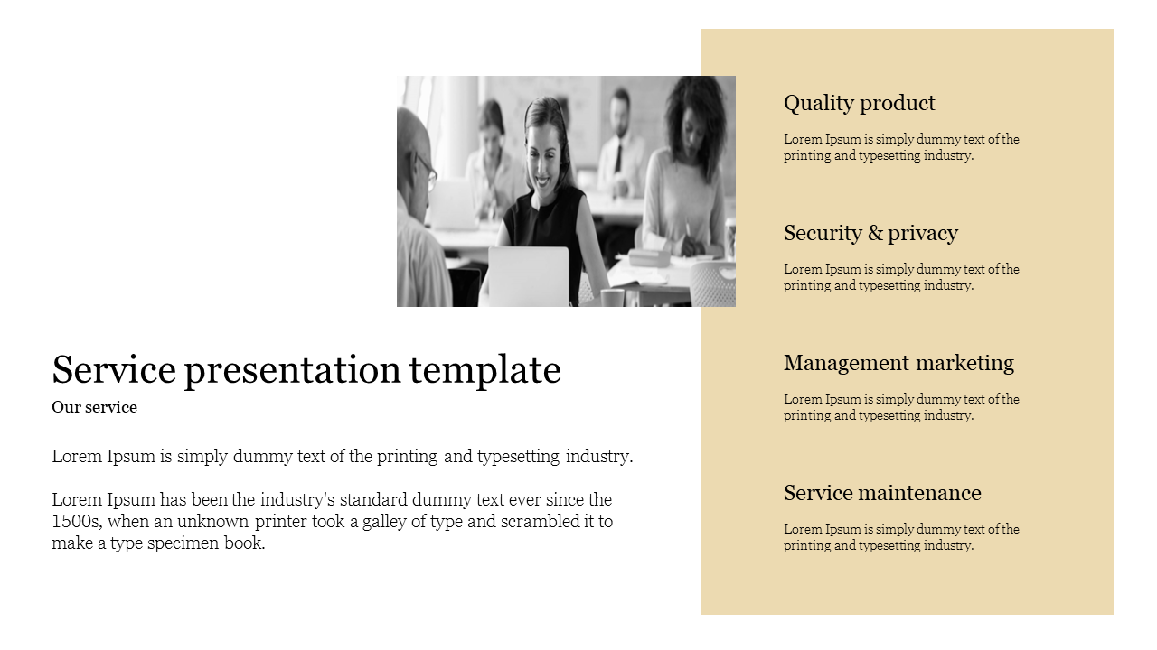 service presentation template for manufacturing company