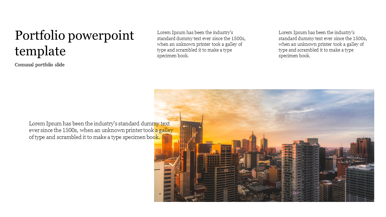 Portfolio powerpoint template for company presentation