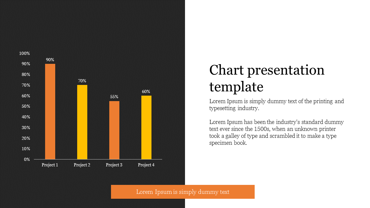 Bar chart presentation template