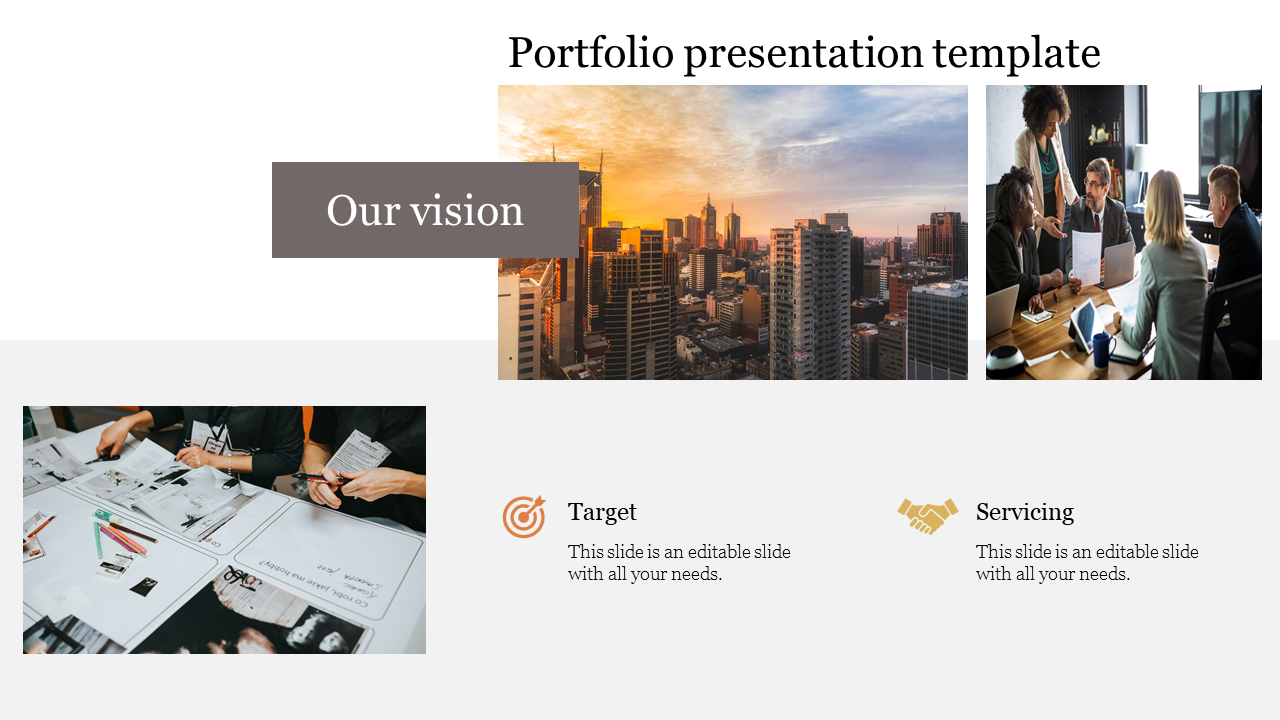Our vision portfolio presentation template