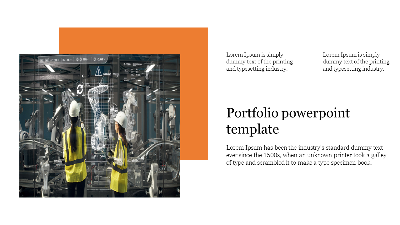Creative Portfolio powerpoint template