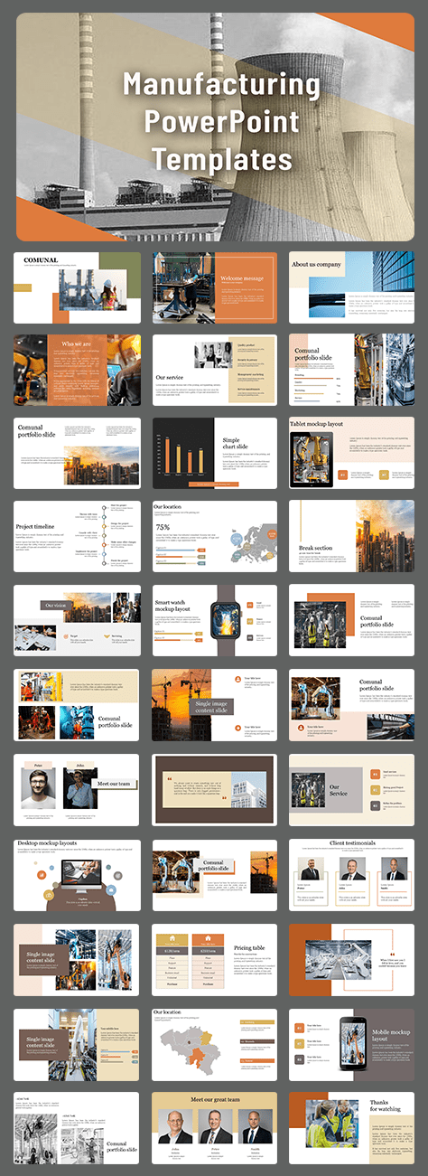 Best manufacturing powerpoint template