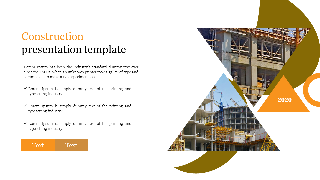Visionary construction presentation template