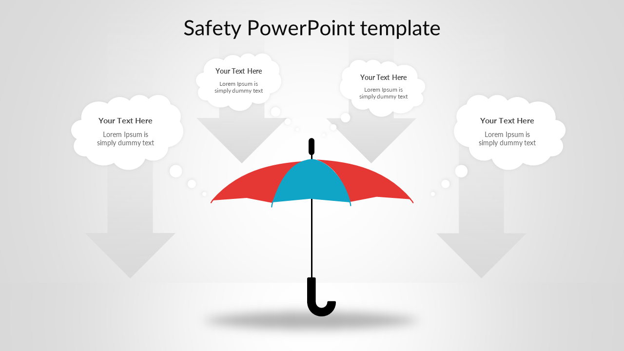 Safety PowerPoint template - Umbrella model