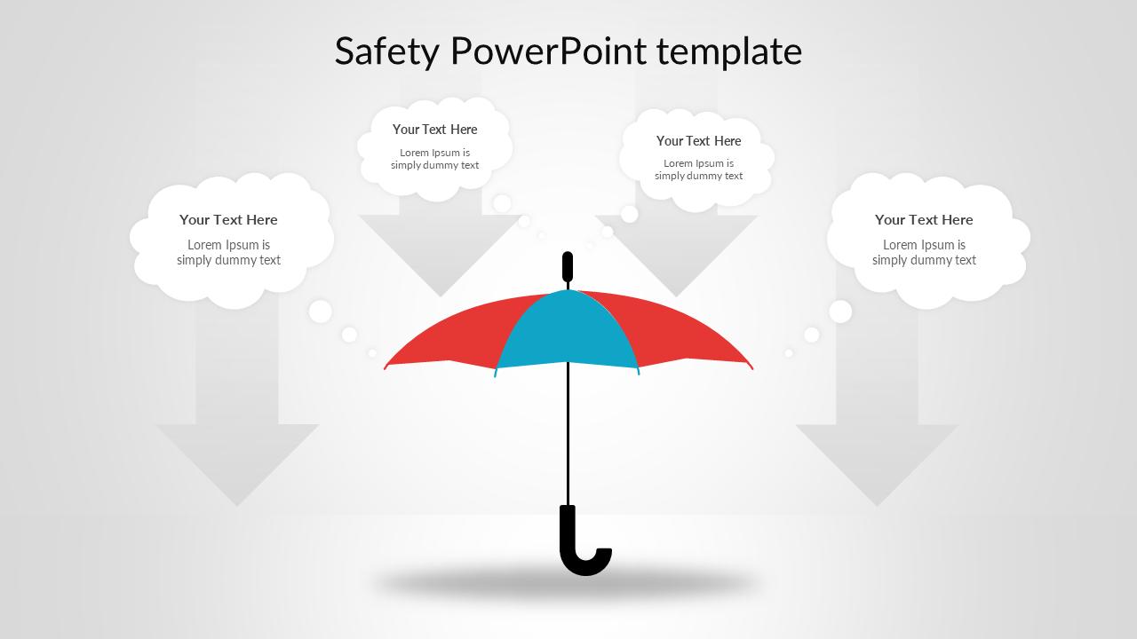 Safety Powerpoint Template Umbrella Model Slideegg