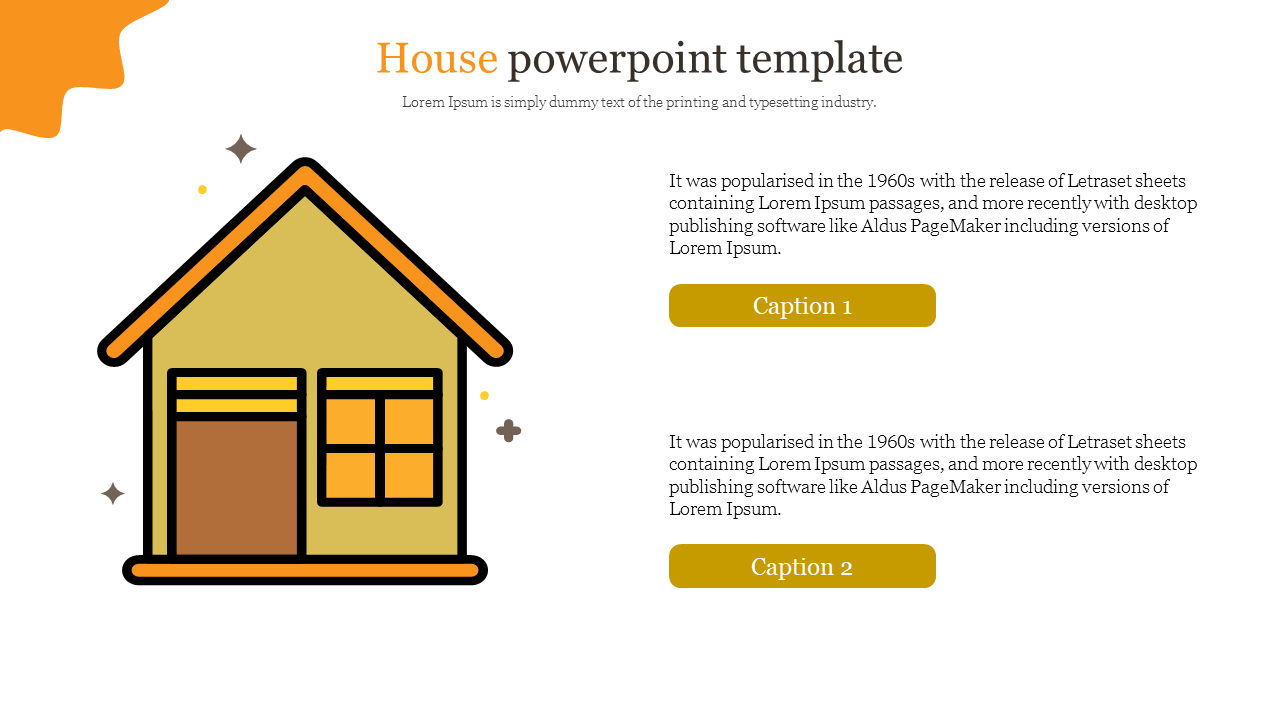 Creative house powerpoint template