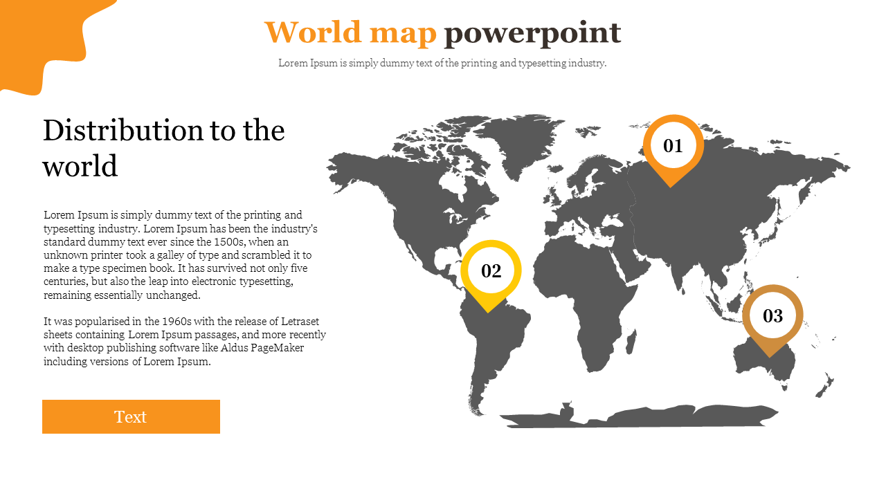 world map powerpoint for business marketing