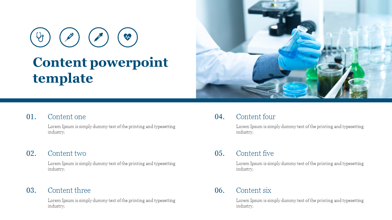 Content powerpoint template for medical presentation