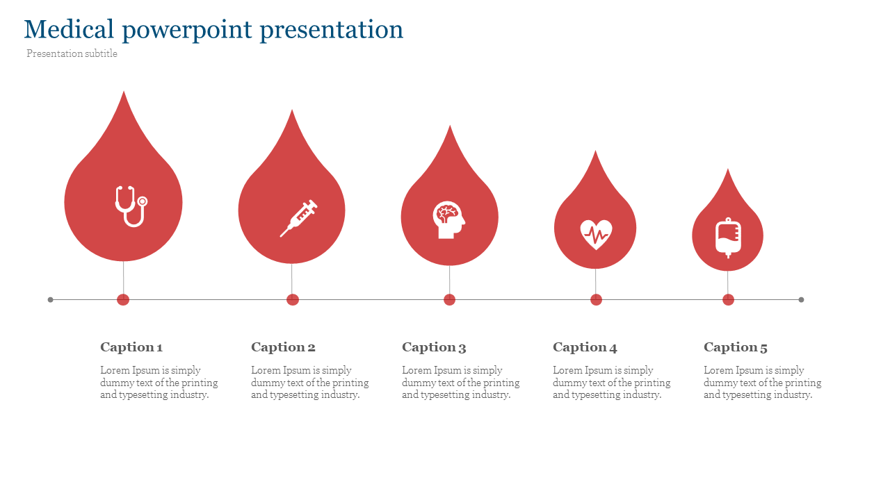 Medical powerpoint presentation with drop diagram