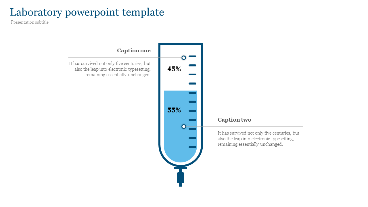 Laboratory powerpoint template for medical presentation