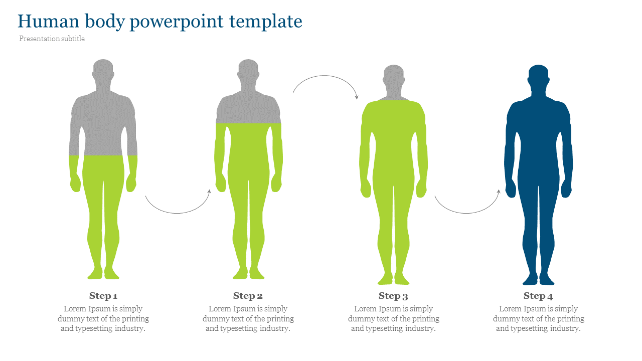 Visionary human body powerpoint template