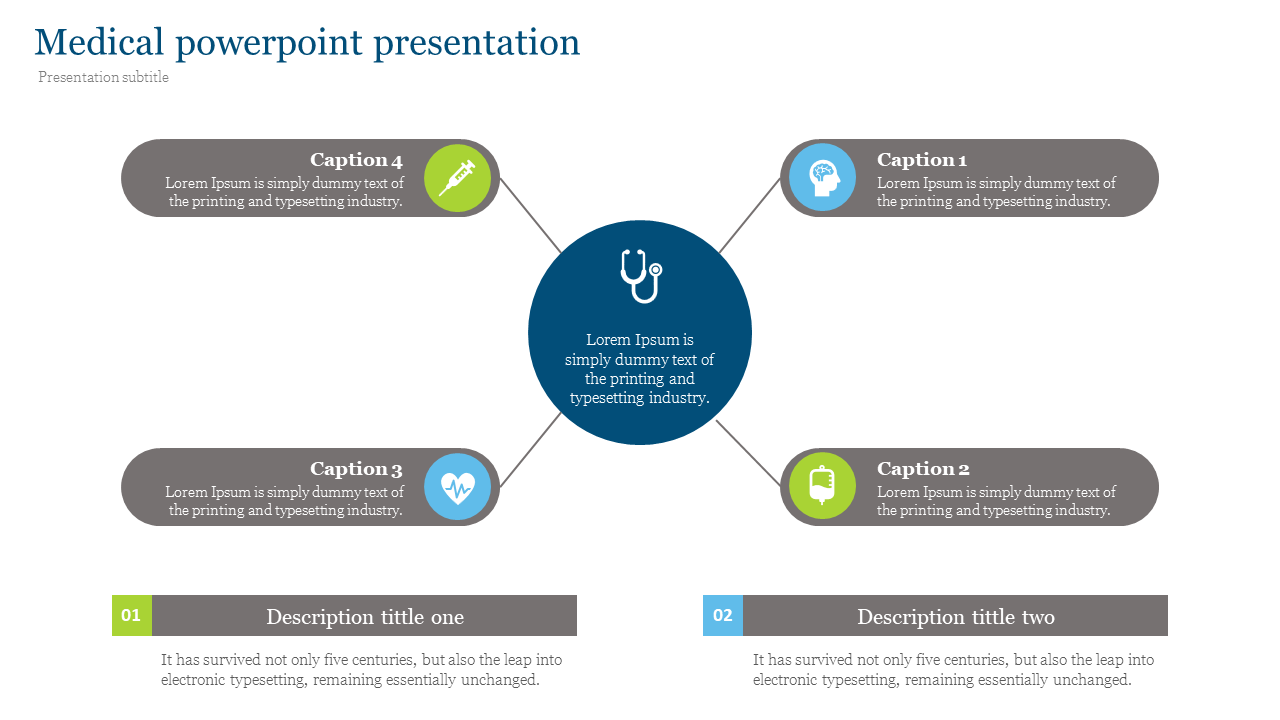 medical powerpoint presentation - One to many Design