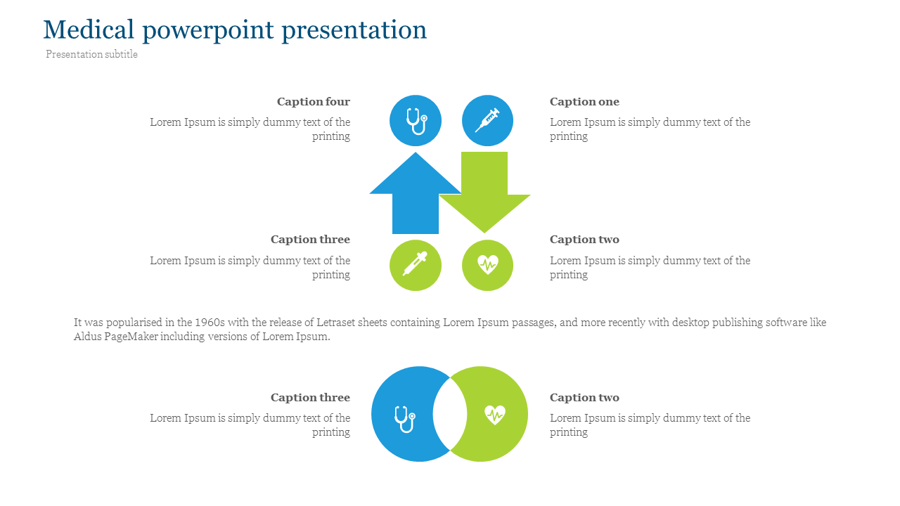 Medical powerpoint presentation with icons