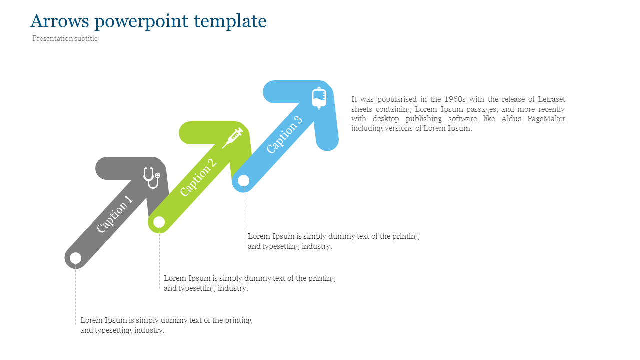Arrows powerpoint template for medical presentation