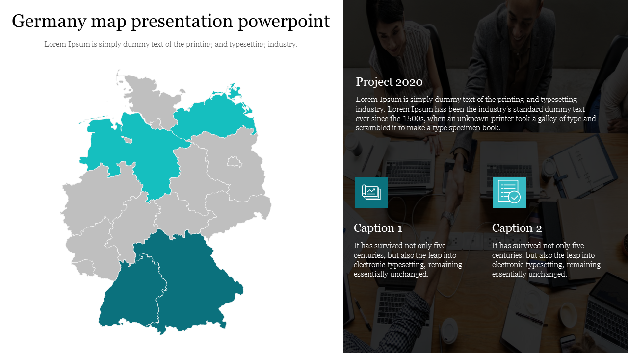 Germany Map Presentation Powerpoint