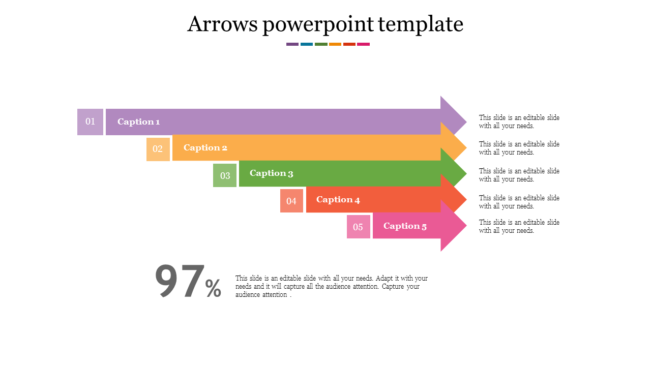 Arrows Powerpoint Template With Animation