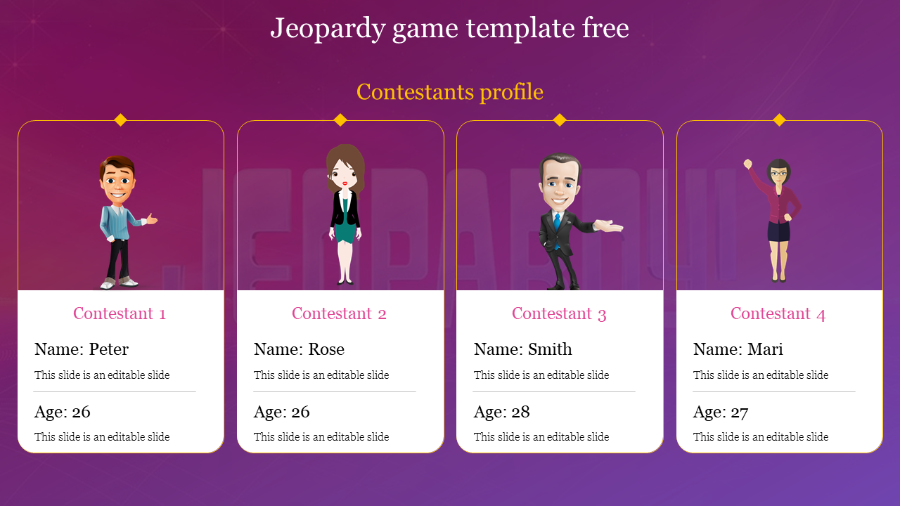 Jeopardy Game Template Free from www.slideegg.com