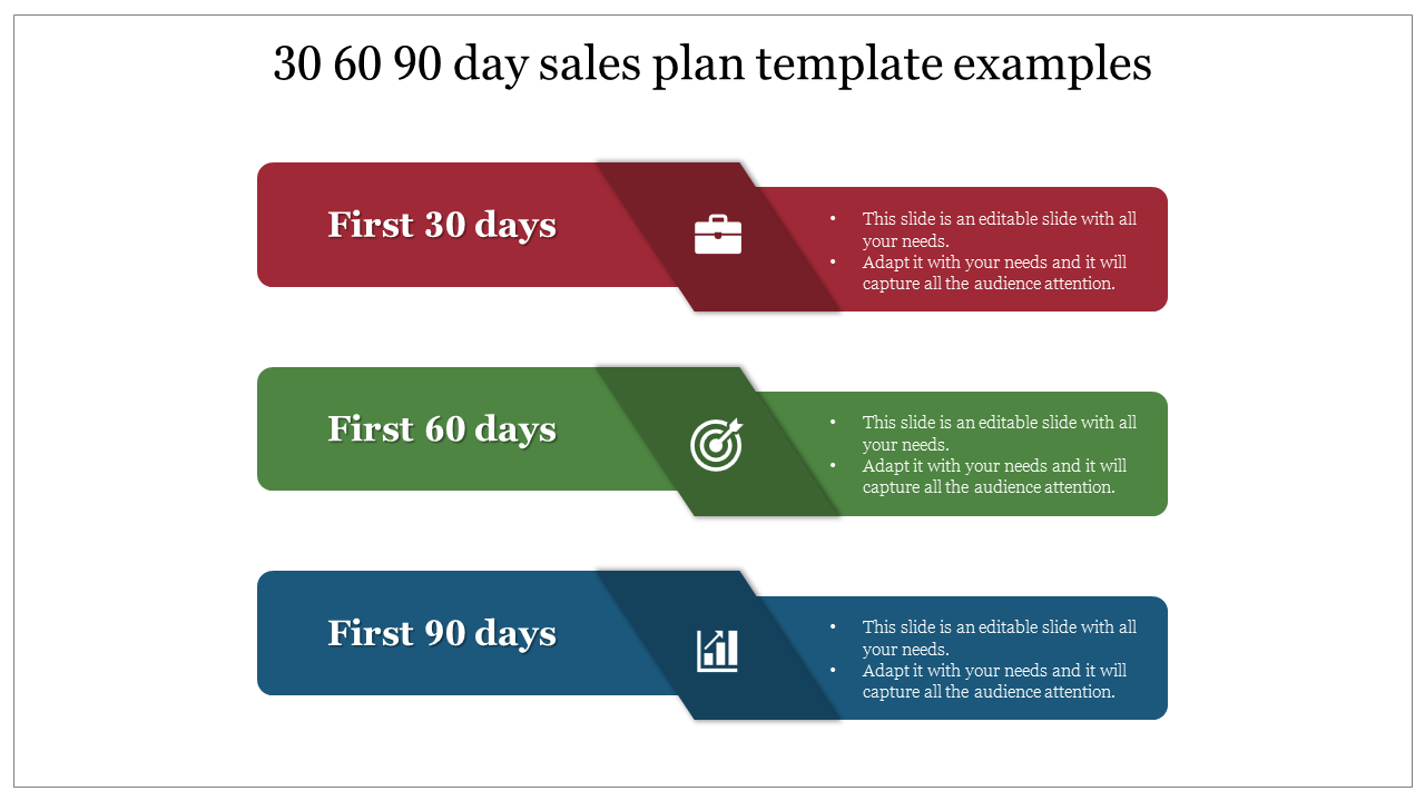 Creative 30 60 90 Day Sales Plan Template Examples Slideegg