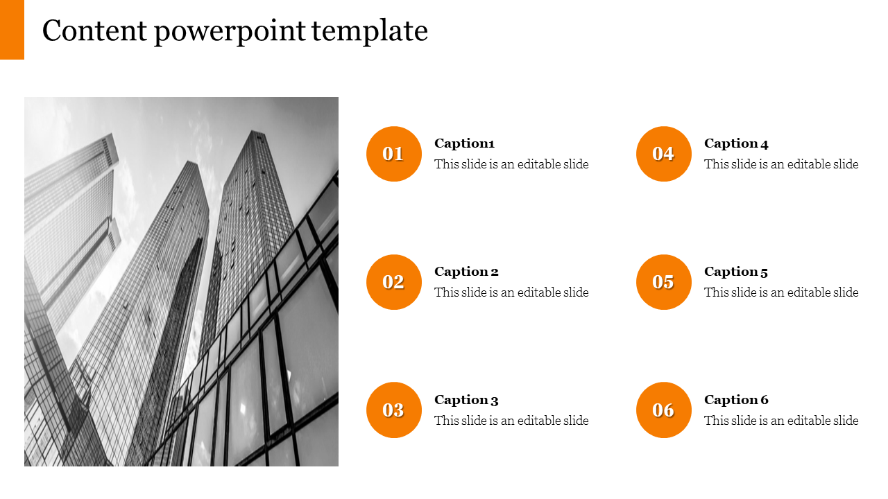 Editable Content Powerpoint Template