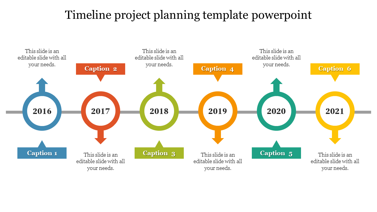 Timeline Project Planning Template Powerpoint Slide