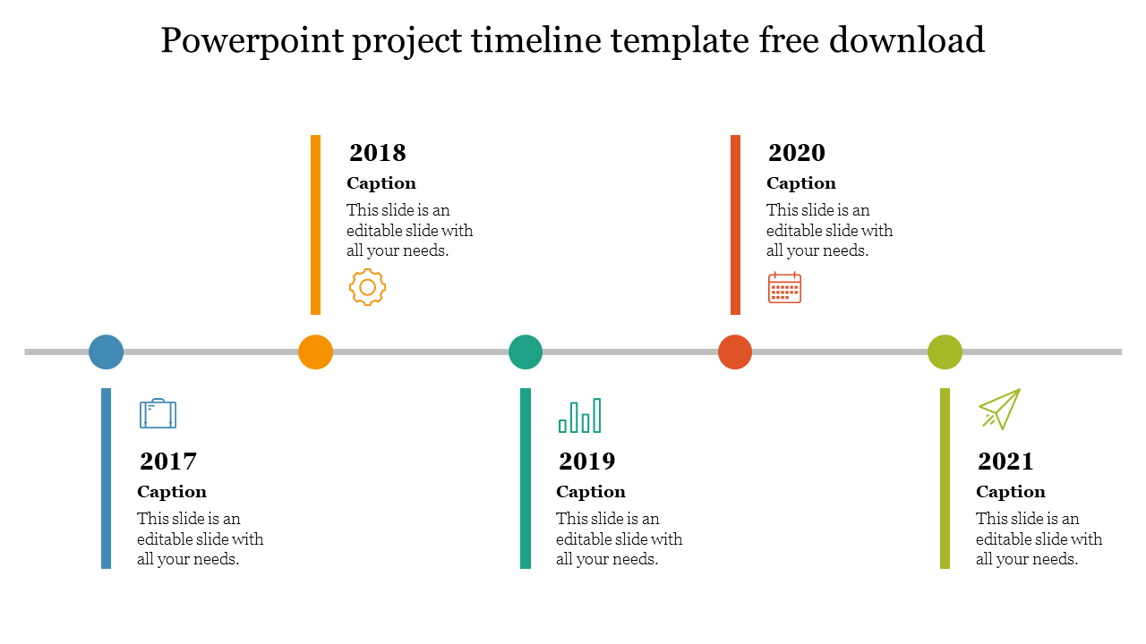 Free - Simple Powerpoint Project Timeline Template Free Download