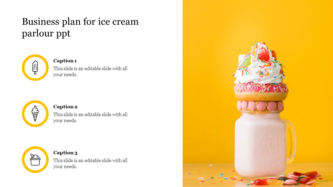 Business Plan For Ice Cream Parlour Ppt Slideegg