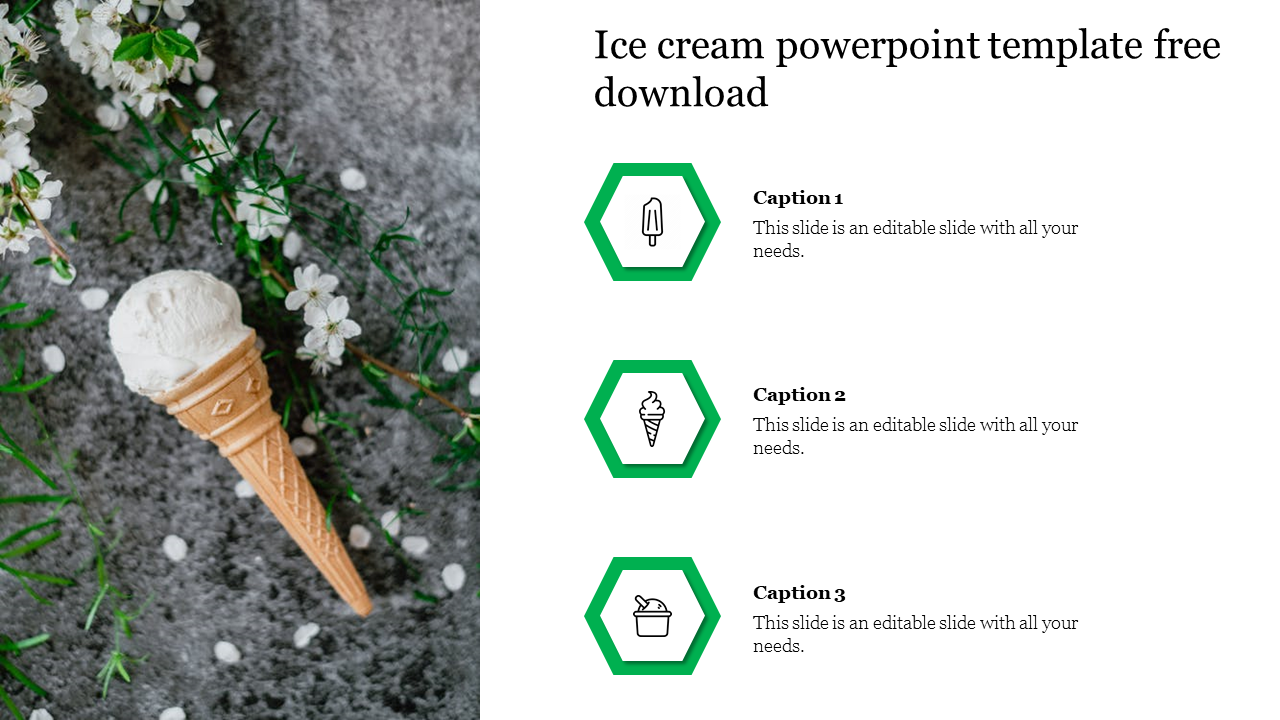 Free - Creative Ice Cream Powerpoint Template Free Download